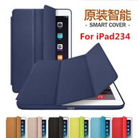 Wholesale Fashion Top Smart Case For Apple iPad4 iPad3 iPad Case Original Design Stand Funda Leather Case For iPad234 Case Cover