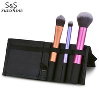 aluminum makeup brush set case - Best Quality Professional Makeup Brush Set wool Aluminum Cosmetics Foundation blending brushes Tools With Case k