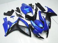 Precio de Suzuki gsxr750 fairing-Carenados para Suzuki GSXR600 GSXR750 K6 06 07 Año 2006 2007 ABS Motocicletas kit del carenado de la carrocería de la moto Cubierta Negro Azul