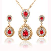 Wholesale Fashion Wedding Bridal Hair Accessories for Women Stud earrings necklace Sets Crystal earrings drop pendant Jewelry