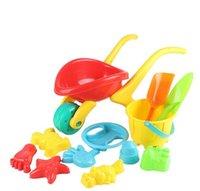 beach wheelbarrow - 12PCS Set Kids Children Wheelbarrow Barrel Shovel Sieve Mold Playset Beach Garden Toy