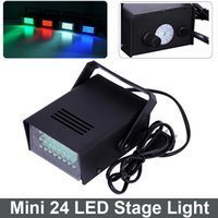 Wholesale Mini LED DJ Strobe Light Flash Light Club Stage Lighting Party Disco Bulb V W White Color