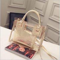 Wholesale Newest Fashion Bags pieces Transparent Messenger Wallet Women Jelly Beach Bag Shoulder Hobo Handbag