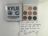 Wholesale 2016 Brand New KYLIE Kyshadow Pressed Powder Eyeshadow Cosmetics Bronze Palette colors Eye Shadow with Blinked cards