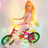 Wholesale Baby Girl Toy Bicycle Plastic Bike Doll Children Play House Outdoor Simulation Accessories Kids Birthday Gift cm X cm