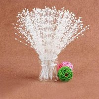 beads on wire - 100pcs Bridal Spray White Beads on Wire Stick Stems Faux Pearl Spray Wedding Bouquets Craft White