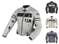 Wholesale DUHAN Men s Motorcycle Racing Patrol Jacket Breathable Mesh Motorcycle Racing Jacket Jaqueta Body Armor Jacket