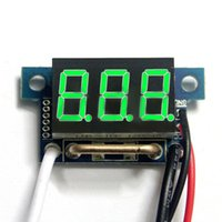 Wholesale quot Red LED Digital DC Ammeter AMP Mini Current Panel Meter DC A hot