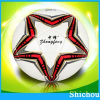 Wholesale Top PU leather WORLD CUP BRAZUCA FINAL MATCH SOCCER BALL SIZE Brasil NEW Top Glider Match Ball Brazil soccer ball