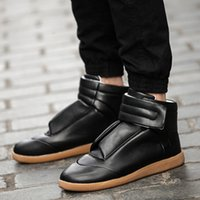 Wholesale Maison Martin Margiela Future Kanye West Sneakers High Top Luxuries Genuine Leather Men s Fashion Casual Shoe