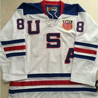 Wholesale 2010 Olympic Team USA Hockey Jersey blank White Ice Hockey Jerseys Cheap Stitched Authentic Sport Jersey drop shipping
