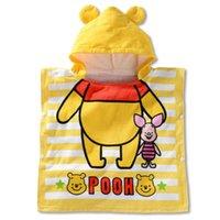 bear beach towel - Gentle Bear Animal Baby Bathrobe Children Beach Towel Soft Cotton Kids Bathrobe infant bath towel cm