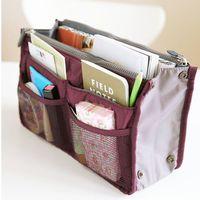amazing grey - Women Travel Insert Handbag Purse Large liner Tote Bags Organizer Bag Storage Bags Amazing make up bags Colors