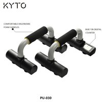 Wholesale KYTO Brand pair New Electronic Digital Counting Count Calorie Push Up Stand I shape Push up Rack Comprehensive Fitness Exercise