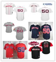 al por mayor jersey auténtico 56-2016 Jersey auténtica de Boston Red Sox 50 jerseys de béisbol de Mookie Betts Base de béisbol fresca de los jerseys cosidos rojo blanco negro Tamaño 48-56