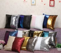 Wholesale Sequins Pillow Case cover Pillowslip Reversible Cushion Pillow Cover Sofa Car Decor Mermaid Pillow Covers design cm KKA853