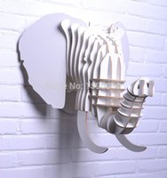 african restaurant decor - Creative home decorations Wall animals D wooden elephant home decor European African bar restaurant ornament unique wall art