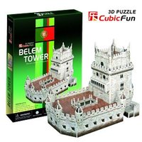 belem tower - candice guo D puzzle toy CubicFun paper model jigsaw game DIY toy belem tower C711h pc