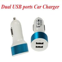 Wholesale Car charges port Dual Port usb dual car charge for apple iphone Andriod Phones Tablets and Smart Phones A A