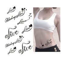 Wholesale Heart Love Letters Designs Women Waterproof Temporary Tattoos Sticker DIY Body Art Accessories Infinity Fake Tattoo Tips