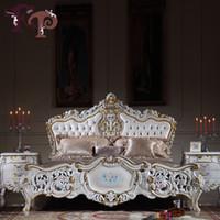 Wholesale classic italian antique bedroom furniture antique baroque european furniture