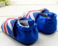 Cheap Spring male baby shoes, boy toddler shoes, Union Jack pattern cotton soft bottom shoes, baby shoes, free shipping