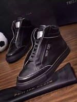 best price boots - Best price P new leather high top shoes boots men s skeleton man qp brand men s real leather shoes