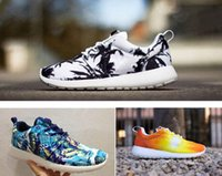 Wholesale NEW Roshe Run Floral White Black Palm Tree Sky Blue Sunset Mens Womens Running Shoes London Olympic Roshes Run Athletics Shoes Size