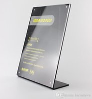 acrylic menu display - 14 A5 Upright L black Acrylic magnetic label holder stand poster banner menu list frame advertising sign holder display