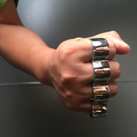 Wholesale Knuckle Duster Belt Buckle F S THICK CHROMED KIRSITE BRASS KNUCKLES DUSTERS Boxing Protective Gear TOP QUALITY