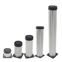 adjustable cabinet leg - 4pcs mm mm mm mm mm mm mm mm Height Adjustable mm Cabinet Feet Silver Tone Stainless Steel Furniture Legs