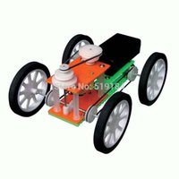 Wholesale Electric assembling model car Power driven speed change belt pulley student educational toys
