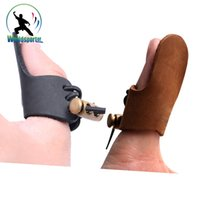 arrow shooter - Thumb Finger Guard Protector for Traditional Shooters Archery Bow Hunting Shooting Finger Protection Pad Glove Tab Pull Arrow