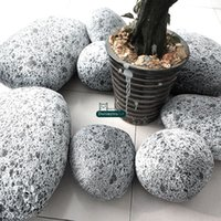 Wholesale Dorimytrader A SET pieces Living Stone Shape Pillow Giant Plush Soft Emulational Mars rock Cushion with Cotton DY61071