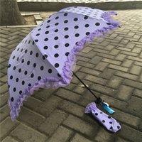 beach umbrella free shipping - Fashion umbrella new design fold colorful sunshade umbrella rain personalized gift umbrellas Beach Wedding