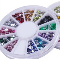 Wholesale LJJG225 Nail Art Glitter Tip mm Rhinestone Deco With Wheel set sets Supply