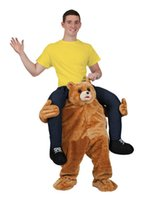 Wholesale quot Carry Me quot Mascot teddy bear and chimpanzees animal costume clothing animal pants suit