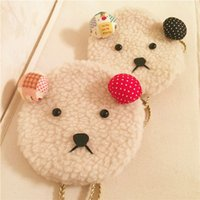 baby girl artwork - Baby Child Kid Girls Beige lamb Lovely Little Bear Snacks Bags Handbag Messenger Shoulder Bag Cross Body Pocket Satchel Handbags B6616