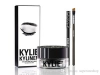 Wholesale 2016 NEW Kylie Cosmetics By Kylie Jenner Kyliner In Black Brown with Eyeliner Gel pot Brush from uprise DHL Free