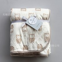 Wholesale fashion Europe Baby children s owl bird Pattern blanket cartoon large size Be hold Air conditioning Knee blanket