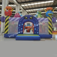 area play - indoor jumping inflatable monster fun city inflatable play area for kids on sale made in China