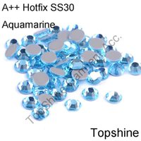 aquamarine buyers - Excellent High Quality mm SS30 Aquamarine Glitters Glass Hotfix Rhinestones For Professional Buyer Only