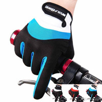 Wholesale Wolfbike Cycling Glove MTB Mountain Bike Gloves Full Finger Downhill Bike Bicycle Gloves Colours Guantes Ciclismo