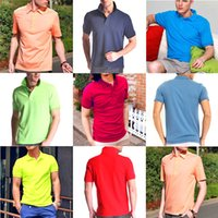 Wholesale New Brand embroidery Polo Shirt Men Short Sleeve Casual Shirts COTTON Man s Solid Polo Shirt S XL Camisa Polo