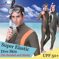 adult skin rashes - Brand Anti UV Wear Lycra Dive Skin Wetsuit Adult Rash Guard One Piece Jump Stinger Suit Men Women Swim Snorkeling Surf Water