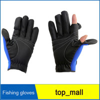 Wholesale 2 Cut Finger Fishing Gloves Anti Waterproof And Slip Folding Fingers Outdoor Sport Cycling Glove Fishing Gloves Pair