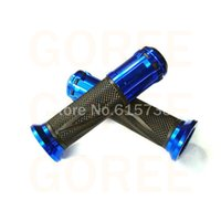 atv handle bars blue - BLUE new hand grip mm Handle bar Grips for Motorcycle Parts ATV Motorbike bycycle motocross