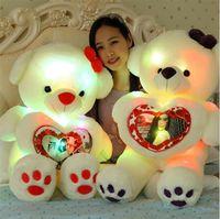 big bear music - High quality Plush toys cm light and music teddy bear big embrace bear doll lovers birthday gift
