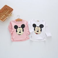 Wholesale 2016 New kids Cotton clothes Child Mickey Mouse Shirts Kids Clothing Autumn Long Sleeve T Shirts Autumn clothing two