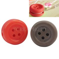Wholesale 2Pcs Stylish Button Design Headphone Earphone Cable Winder Cord Organizer New